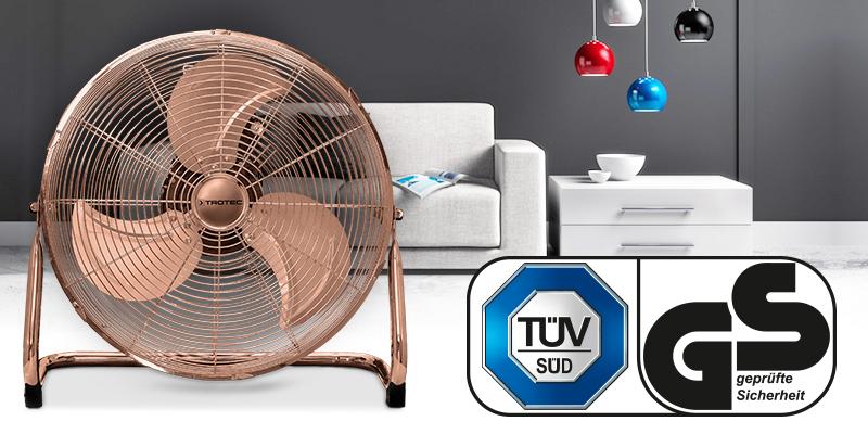 Aparatul TVM 17 este livrat la calitate certificată TÜV.