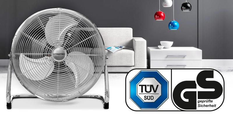 Aparatul TVM 18 este livrat la calitate certificată TÜV.